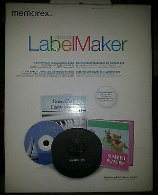 NEW Memorex CD DVD Label Maker Kit 98977 EXPEDITED USPS Priority Mail Shipping