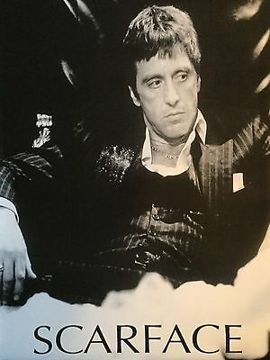 SCARFACE Movie Poster - Scarface B&W Coke Full Size 24x36 Print - Al Pacino