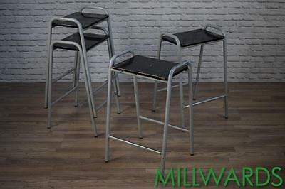 Vintage Industrial School Lab Stackable Cafe Bar Stools 50 AVAILABLE (inc VAT)