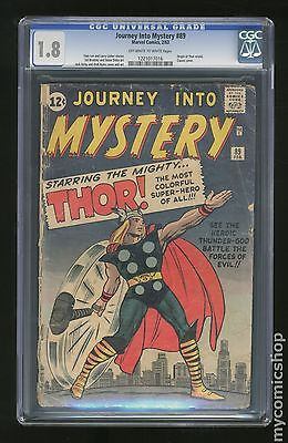 Thor (1962-1996 1st Series Journey Into Mystery) #89 CGC 1.8 (1221017016)