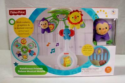 NEW Fisher Price Signature Style Rainforest Friends Deluxe Crib Mobile