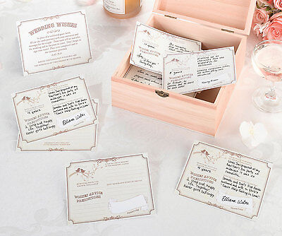Ivory-Tan Wish Cards For Alternative Guest Book Signing