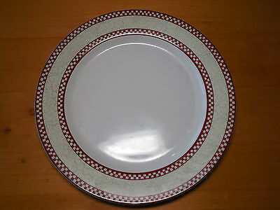 """Noble Excellence CHICKEN SCRATCH Dinner Plates 10 7/8"""" Red   3 available"""