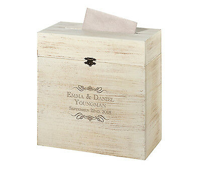 Wooden Rustic Card Box Or Alternative Wedding Guest Book-Personalize!!!
