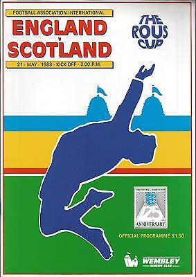 England v Scotland 21st May 1988 The Rous Cup Programme @ Wembley