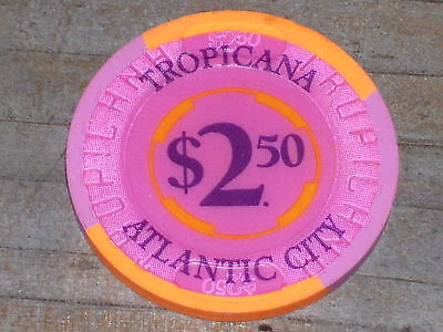 $2.50 Gaming Chip From The Tropicana Casino Atlantic City