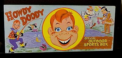 Howdy Doody  Official Outdoor Sports Box Liberty Sleel Chest Corp. Nice!!