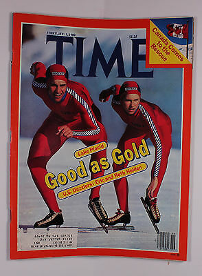 Time Magazine February 11 1980 Cover features speed skaters Eric and Beth Heiden
