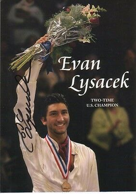 Evan Lysacek Autographed Photo Famed American Olympic Figure Skater