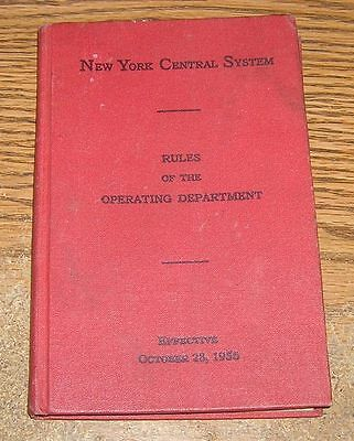 """New York Central System """"Rules of the Operating Department""""  October 1956"""