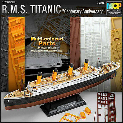 RMS Titanic Model Kit Ship Toy ACADEMY Multi Colored Parts 1/700 Scale #14214
