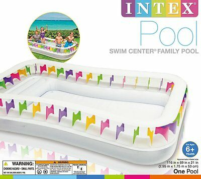 NEW Intex Swim Centre Family Childrens Lounge Inflatable Pool 2.95 x 1.75m