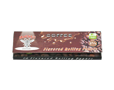 Hornet Flavoured Rolling Papers 1 1/4 Size 50 Leaves Coffee cigarette smoking