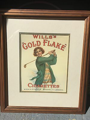Wills's Gold Flake Framed Picture Painting