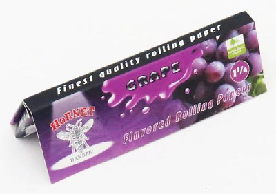 Hornet Flavoured Rolling Papers 1 1/4 Size 50 Leaves Grape cigarette smoking