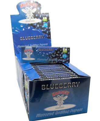 Hornet Flavoured Rolling Papers 1 1/4 Size 50 Leaves Blueberry cigarette smoking