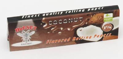 Hornet Flavoured Rolling Papers 1 1/4 Size 50 Leaves Coconut cigarette smoking