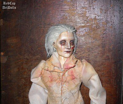 Tom Hiddleston Crimson Peak Ghost inspired Art Doll OOAK 1/6 scale horror