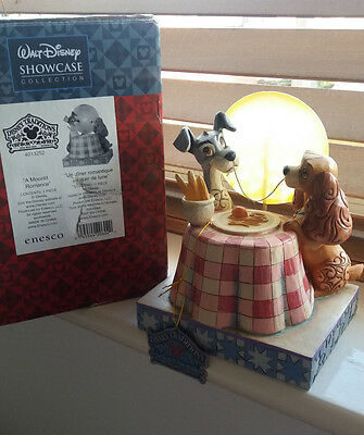 """Disney tadition, Jim shore, Showcase Lady and the tramp """"A moonlite romance"""""""