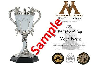 Harry Potter / Hogwarts - Tri Wizard Cup Certificate