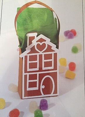 Sizzix Christmas Gingerbread House gift bag cutting die