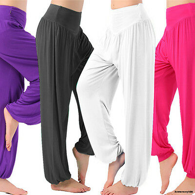 US Sexy Womens Yoga Pants Gym Heram Baggy Leggings Fitness Sports Athletic S287