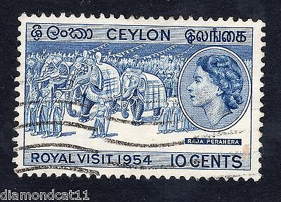 1954 Ceylon 10c Royal Visit SG434 Fine Used R13885