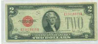 1928 G $2 Red Seal United States Note