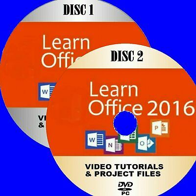 MICROSOFT OFFICE 2016 VIDEO TRAINING 30+HRS PC DVDs WORD EXCEL ONE NOTE Etc NEW