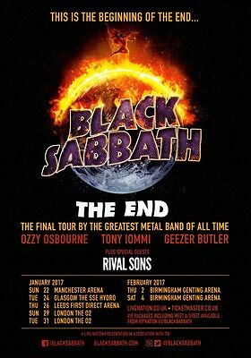 BLACK SABBATH The End 2017 UK Tour PHOTO Print POSTER Ozzy Osbourne Shirt 007