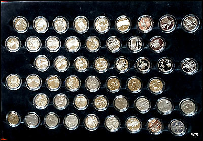 Limited set of 50 State Quarters in Wooden Collector's Case