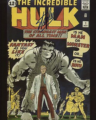 Stan Lee signed The Incredible Hulk #1 Photo With COA + Proof Marvel First Hulk