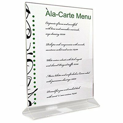 3X Double Sided Thick Acrylic Sign Holder, Ad Frame 8.5 x 11, Marketing Display