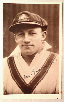 Sir Don Bradman Australia 1928-48 1934 Signed Postcard