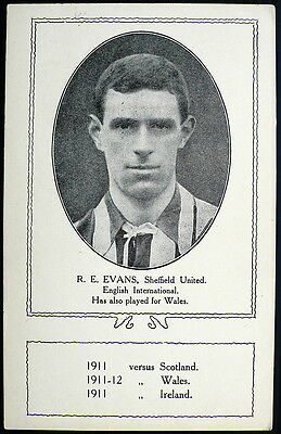 Bobby Evans, Sheffield United, Wales And England Pcard