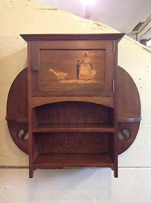 SUPERB 1900s ARTS & CRAFTS LIBERTY & CO WALL CABINET
