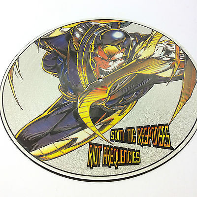 Somatic Responses  'Riot Frequencies' Rare Vinyl LP Picture Disc. Very Good Cond