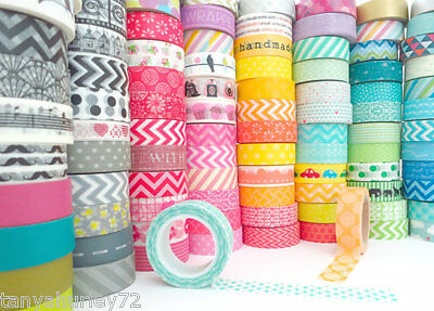 washi tape x 10 rolls assorted colours and styles