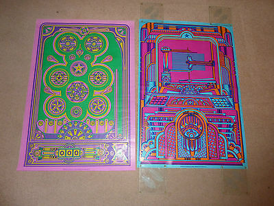** RARE 5 Polypops posters/wrapping paper psychedelic Dave Roe set 60's/70's ***