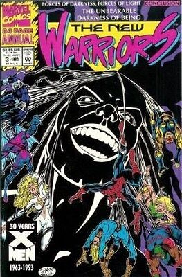 """Comic Marvel """"t/nWarriors #3 Annual"""" 1993 NM (with original trading card inside)"""