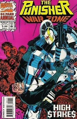 """Comic Marvel """"Punisher: War Zone #1 Annual"""" 1993 NM (with original trading card)"""