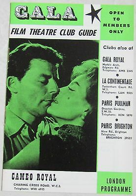 Old Gala Film Theatre Club Guide Cameo Royal London Programme 1950's?