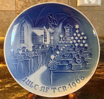 1968 Christmas In Church Porcelain Plate B&g Denmark Copenhagen