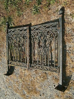 Victorian Cast Iron Double Gate And Posts Entrance Way For Walk Way Garden