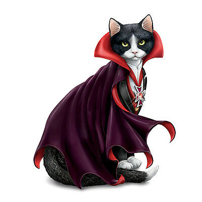 Count Cat-ula Vampire Cat Figurine - Bradford Exchange