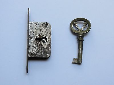 Antique Rare Victor Victrola Skeleton Key and Lock, Working