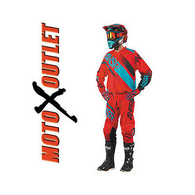 2017 Red Teal Answer Racing Syncron Motocross Gear Pants Jersey MX Adult Youth