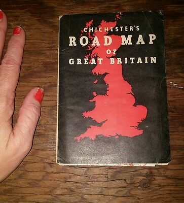 Vintage road map of Great Britain Chichester's