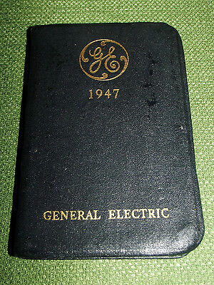 Vintage 1947 General Electric Salesman Pocket Diary Appointment Book Calendar