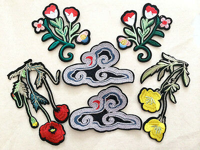 Sew Flower floral Applique patches clothing accessory embroidery  DIY Motif
